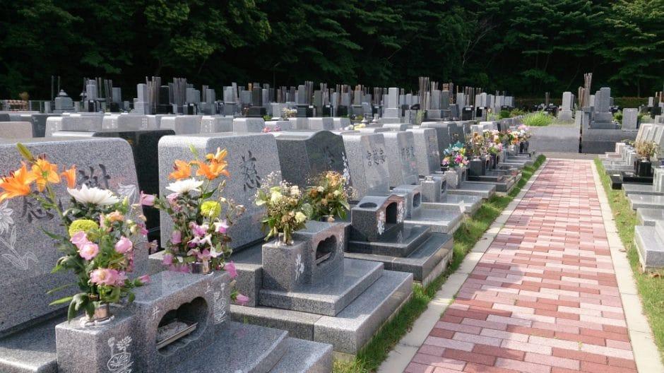 松戸中央霊園風景(本覚寺ホームページ用)
