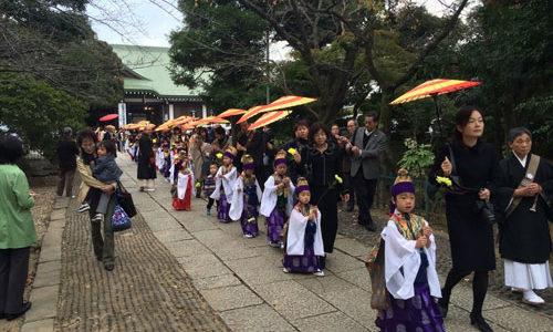 法華経寺御会式参拝
