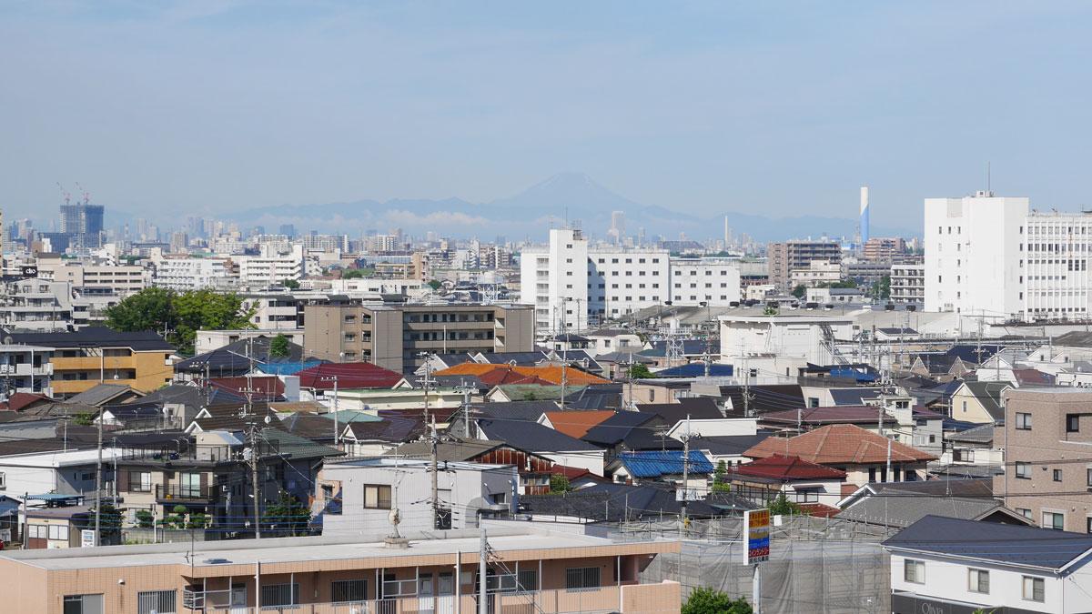 2015年6月28日 松戸本覚寺からの風景
