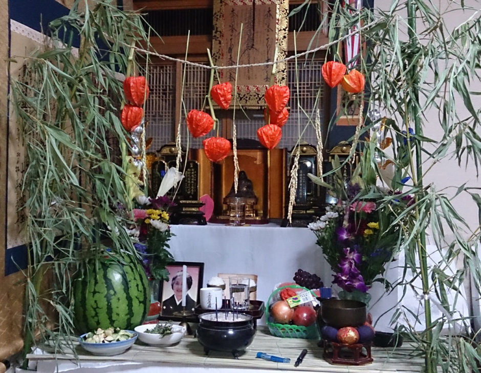 本覚寺お盆精霊棚飾り例