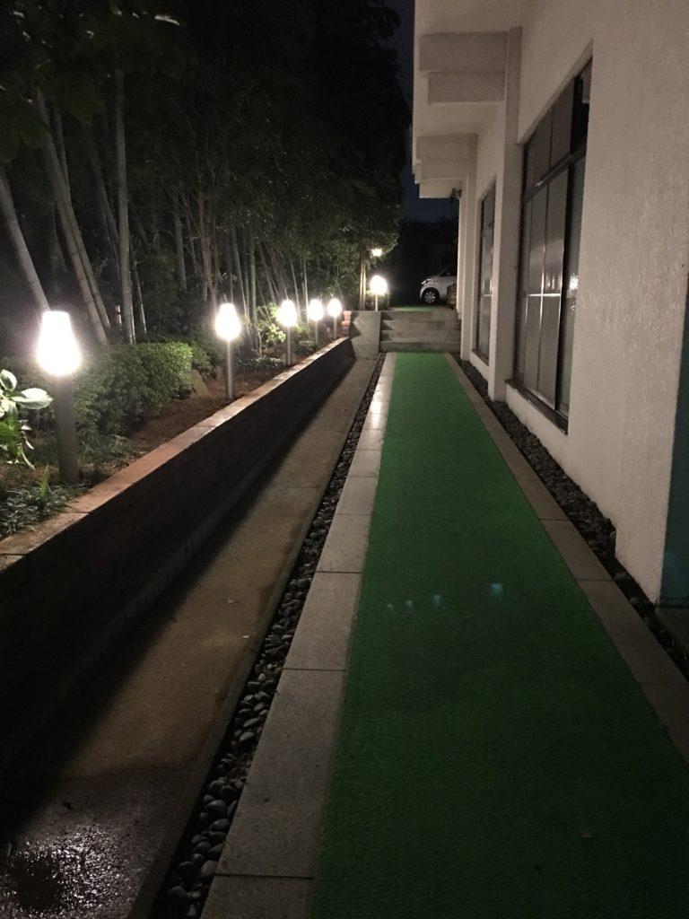 本覚寺照明の増設