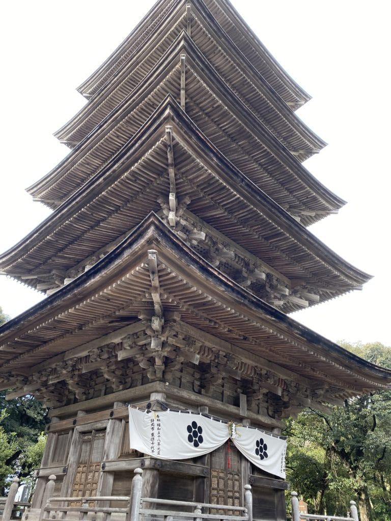 妙成寺内 五重塔